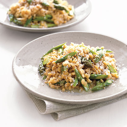 Barley Risotto with Asparagus and ParmesanRecipe