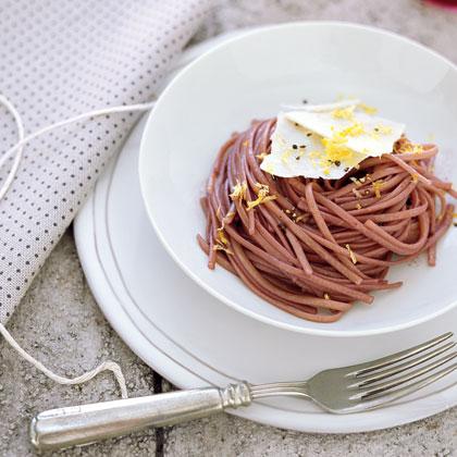 Red Wine Pasta with Romano