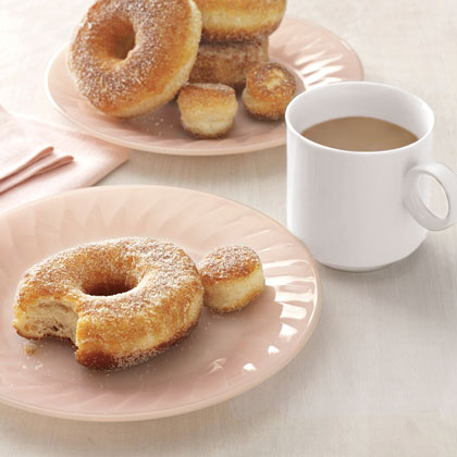 Easy Doughnuts RecipeThis four-ingredient recipe is about as easy as they come, and gives you hot doughnuts without having to leave your house. Just brew the coffee and indulge in this tasty treat.