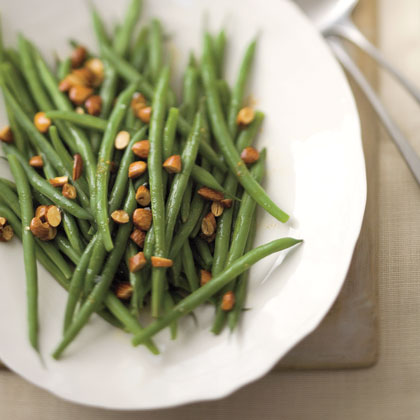 Green Beans with Almond-and-Lemon Brown Butter Recipe