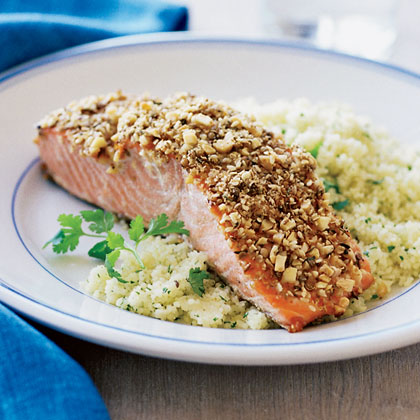Almond and Spice-crusted Grilled SalmonRecipe