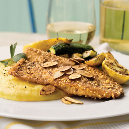You can substitute catfish, flounder, or orange roughy for tilapia in this crispy, nutty fish recipe.Almond-Crusted Tilapia