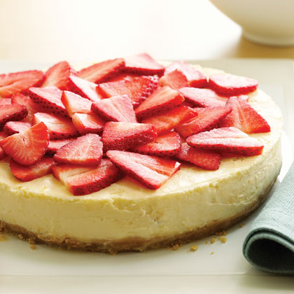 "Finely ground Trefoils cookies make the perfect base for this elegant lemon cheesecake. Decorate with sliced strawberries and ""do a good turn daily"" by sharing with friends and family.Recipe: Lemon Shortbread Cheesecake"
