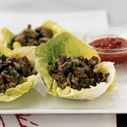 Chinese Chicken and Mushroom Lettuce Cups Recipe