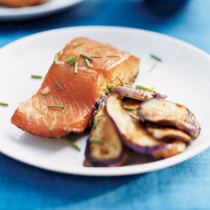 Grilled Miso Salmon and Eggplant