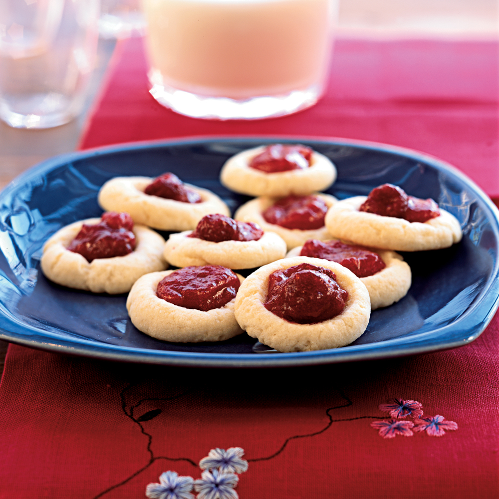 raspberry thumbprint cookies recipe myrecipes