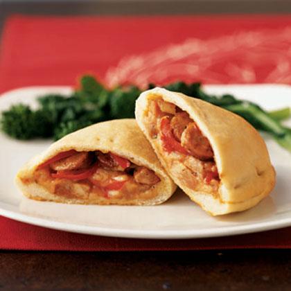 Sausage And Pepper Calzones Recipe Myrecipes