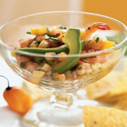 Seviche de Camarones con Mango y Habanero (Shrimp Seviche with Mango and Habanero)Recipe