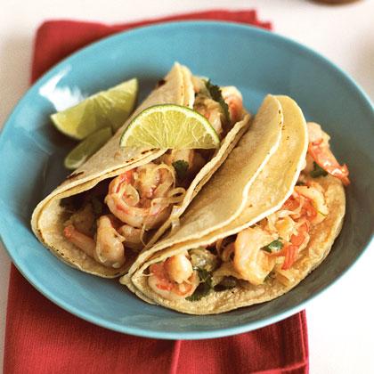 Garlicky Shrimp-Cilantro Tacos (Tacos de Camarones al Mojo de Ajo)Recipe