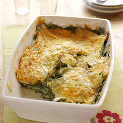 Spinach-Cheese Bake Recipe