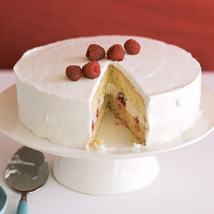 Tres Leches Cake with Raspberries