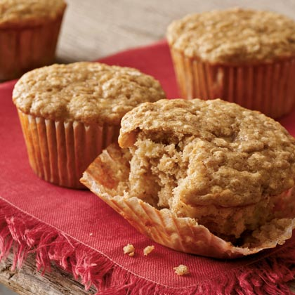 Quick and Easy Banana-Oat MuffinsRecipe