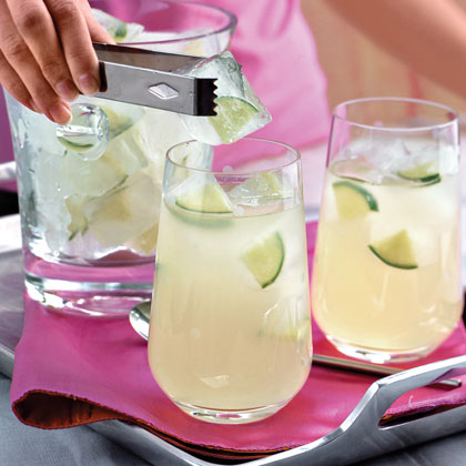 Use one cup of sugar if you plan to serve lemonade with a simple syrup. To extract the most juice from lemons, microwave them at HIGH for about 15 seconds.Lemonade Recipe
