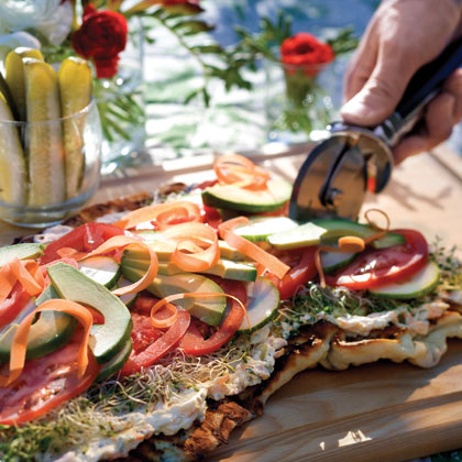 Open-Faced Garden Sandwich