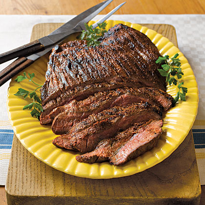 Grilled Spice-Rubbed Flank Steak Recipe | MyRecipes.com