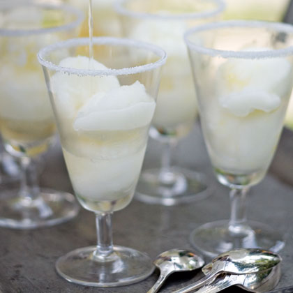 Lime Sorbet Margaritas