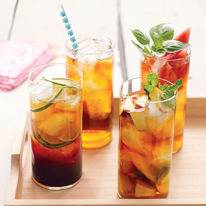 Peach and Mint Iced Tea