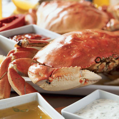 Boiled Dungeness Crab with Fennel
