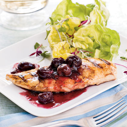 Grilled Chicken With Spicy Cherry Sauce Recipe