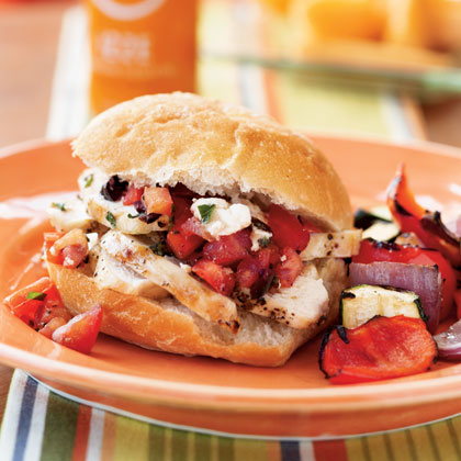 Grilled Chicken and Tapenade Sandwiches Recipe