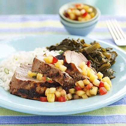 Jerk Pork Tenderloin with Pineapple-Plum Relish Recipe