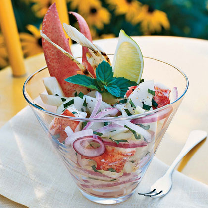 Lobster Seviche with Grilled Fennel Recipe