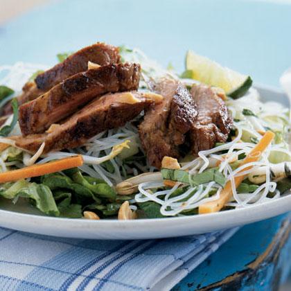 Vietnamese Caramelized Pork and Rice Noodle Salad