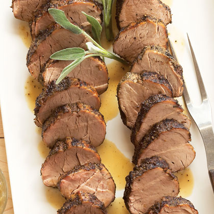 Sage-rubbed Pork Tenderloins with Sage Butter