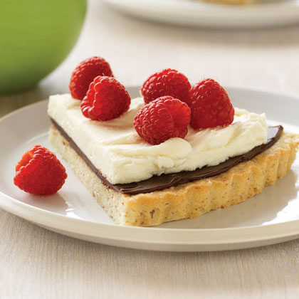 Raspberry Cream Tart Recipe | MyRecipes
