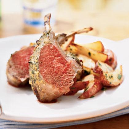 Garlic-Herb Roasted Rack of Lamb
