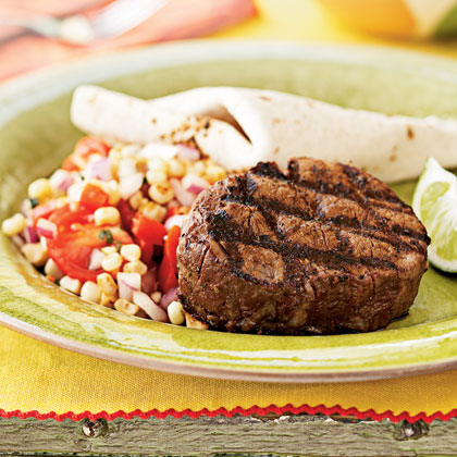 Chile-Spiced Tenderloin Steaks Menu
