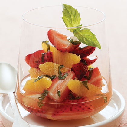 Serve this tangy fruit cup as a starter salad or a simple dessert.Strawberry-Orange Salad Recipe
