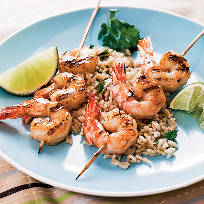 Tequila-Lime Shrimp With Cilantro Rice