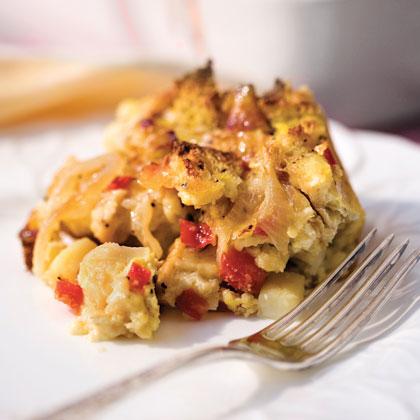 Brie-and-Veggie Breakfast Strata
