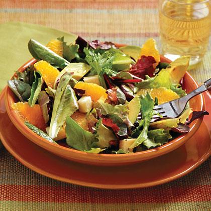 Mixed Green Salad With Cilantro-Lime Vinaigrette
