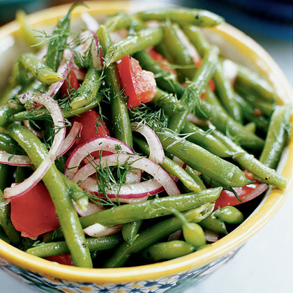 Marinated Green Beans and Tomatoes with Dill Recipe