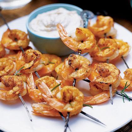 Grilled Shrimp with Tarator Sauce