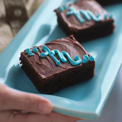 Monogrammed Jumbo Brownies Recipe