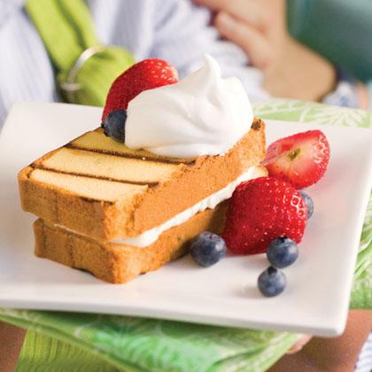 Cream-Filled Grilled Pound Cake Recipe | MyRecipes