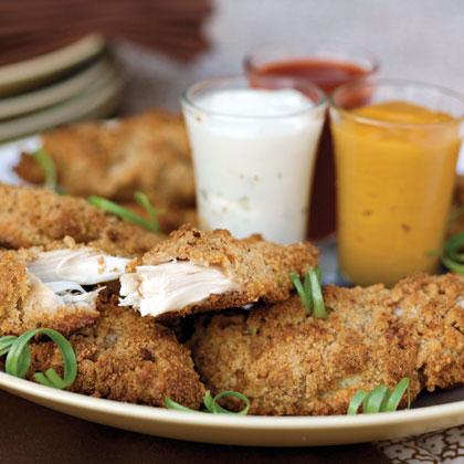 """Fried"" Pecan Chicken Fingers"