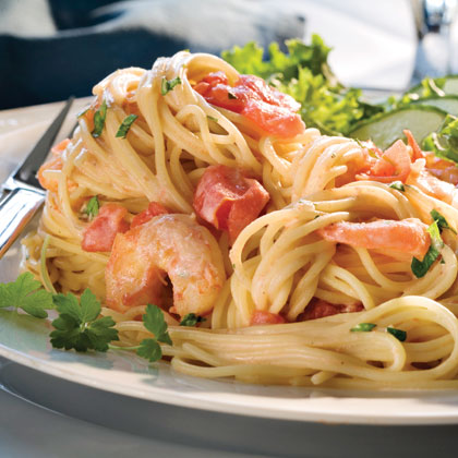 Thin Spaghetti With Shrimp