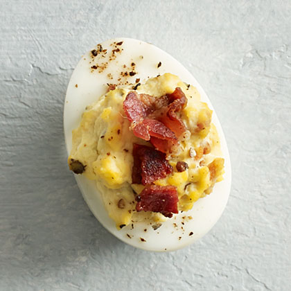 Bacon and Blue Cheese Deviled Eggs Recipe