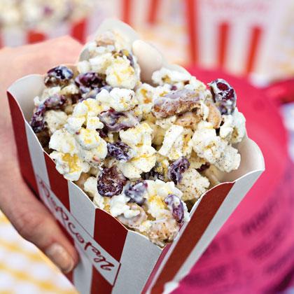Gold-Dusted White Chocolate PopcornRecipe