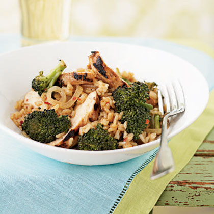 Broccoli and Chicken Stir-Fried Rice