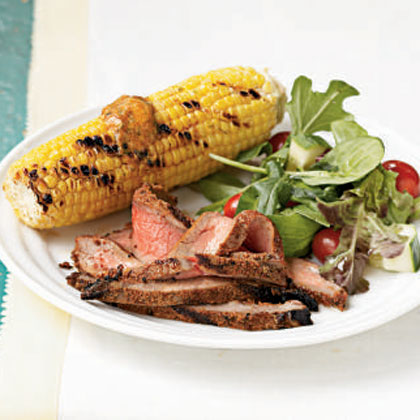 Blackened Grilled Flank Steak Recipe
