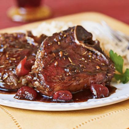Cherry-Glazed Pan-Seared Lamb Chops