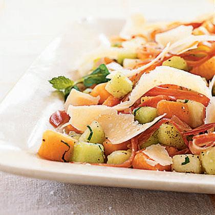 Melon and Prosciutto Salad with Parmigiano-ReggianoRecipe