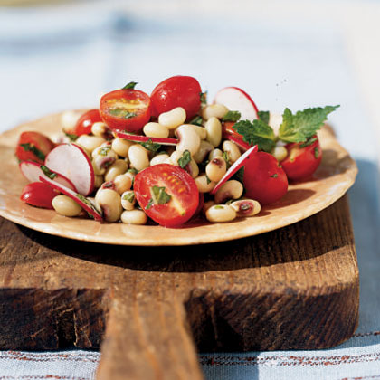 Fresh Pea Salad with Radishes, Tomatoes, and Mint