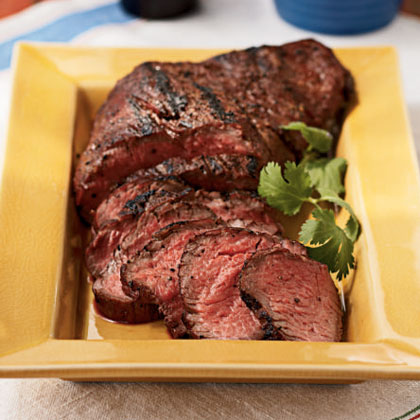 5 to Try: Cheap Cuts of Meat RecipeTri-tip is another name for sirloin tip–a less tender muscle found in the hind leg of beef. Simply rub the meat with a blend of salt, pepper, and garlic powder, then grill over hickory wood chips to infuse the tip with smoky flavor. Fresh Santa Maria Salsa complements the tri-tip well.