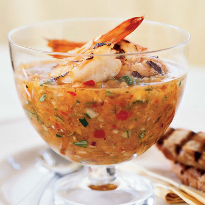 Grilled Shrimp Gazpacho